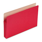 3 1/2 Inch Accordion Expansion Colored File Pocket, Straight Tab, Legal, Red SMD74231