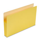 3 1/2 Inch Accordion Expansion Colored File Pocket, Straight Tab, Legal, Yellow SMD74233