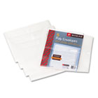 Side-Load Envelopes, 1 1/4 Inch Expansion, Jacket, Letter, Poly, Clear, 5/Pack SMD89661