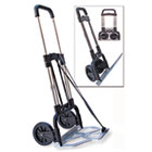 Portable Slide-Flat Cart, 275lbs, 18 3/4 x 19 x 40, Black/Chrome STB390009CHR