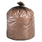 Eco-Degradable Plastic Trash Garbage Bag, 39gal, 1.1mil, 33 x 44, Brown, 40/Box STOG3344B11