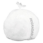 Eco-Degradable Plastic Trash Garbage Bag, 13gal, .7mil, 2x30, White, 120/Box STOG2430W70