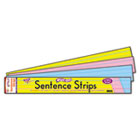 Wipe-Off Sentence Strips, 24 x 3, Blue/Pink, 30/Pack TEPT4002