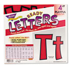 "Ready Letters Playful Combo Set, Red, 4""h, 216/Set TEPT79742"