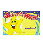 Recognition Awards, Star of the Week!, 8-1/2w x 5-1/2h, 30/Pack TEPT8107