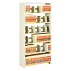Snap-Together Open Shelving Steel 6-Shelf Closed Starter Set, 36 x 12 x 76, Sand TNN1276PCSD