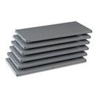"Industrial Steel Shelving for 87"" High Posts, 36w x 18d, Medium Gray, 6/Carton TNN6Q23618MGY"