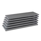 "Industrial Steel Shelving for 87"" High Posts, 48w x 18d, Medium Gray, 6/Carton TNN6Q24818MGY"