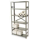 Commercial Steel Shelving, Six-Shelf, 36w x 12d x 75h, Medium Gray TNNESP61236MGY