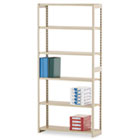 Regal Shelving Starter Set, Six-Shelf, 36w x 12d x 76h, Sand TNNRGL1236SSD
