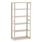 Regal Shelving Add-On Unit, Six-Shelf, 36w x 15d x 76h, Sand TNNRGL1536ASD