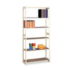 Regal Shelving Starter Set, Six-Shelf, 36w x 15d x 76h, Sand TNNRGL1536SSD