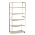 Regal Shelving Add-On Unit, Six-Shelf, 36w x 18d x 76h, Sand TNNRGL1836ASD