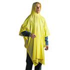 Disposable Rain Poncho, 100% PVC, Yellow UNS07000