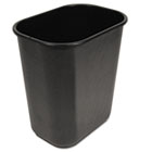 Soft-Sided Wastebasket, 28qt, Black UNS28QTWBBLA