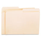 File Folders, 1/2 Cut, One-Ply Top Tab, Letter, Manila, 100/Box UNV12112