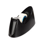 "Desktop Tape Dispenser, 1"" Core, Weighted Nonskid Base, Black UNV15001"