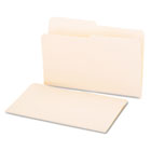 File Folders, 1/2 Cut, One-Ply Top Tab, Legal, Manila, 100/Box UNV15112