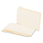 File Folders, 1/5 Cut Assorted, One-Ply Top Tab, Legal, Manila, 100/Box UNV15115
