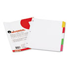 Write-On/Erasable Indexes, Five Multicolor Tabs, Letter, White, 5/Set UNV20816