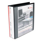 "Round Ring Economy Vinyl View Binder, 2"" Capacity, Black UNV20981"