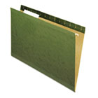 Reinforced Recycled Hanging Folders, Legal Size, 1/3 Tab, Standard Green, 25/Box UNV24213