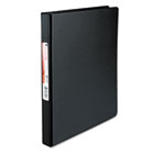 "Suede Finish Vinyl Round Ring Binder, 1/2"" Capacity, Black UNV30401"