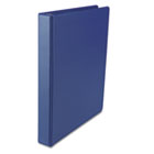 "Suede Finish Vinyl Round Ring Binder, 1"" Capacity, Royal Blue UNV31402"