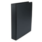 "Suede Finish Vinyl Round Ring Binder, 1-1/2"" Capacity, Black UNV33401"