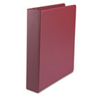 "Suede Finish Vinyl Round Ring Binder, 1 1/2"" Capacity, Burgundy UNV33406"