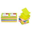 Fan-Folded Pop-Up Notes, 3 x 3, 4 Neon Colors, 12 100-Sheet Pads/Pack UNV35617