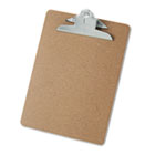 "Hardboard Clipboard, 1-1/4"" Capacity, Holds 8-1/2 x 11, Brown UNV40304"