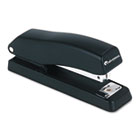 Economy Half Strip Stapler, 12-Sheet Capacity, Black UNV43119