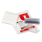 "Hanging File Folder Plastic Index Tabs, 1/3 Tab Cut, 3 1/2"" Tab, Clear, 25/Pack UNV43313"