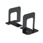Economy Bookends, Standard, 4 3/4 x 5 1/4 x 5, Heavy Gauge Steel, Black UNV54051