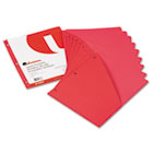 Slash-Cut Pockets for Three-Ring Binders, Jacket, Letter, 11 Pt., Red, 10/Pack UNV61683