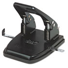 "30-Sheet Two-Hole Punch, 9/32"" Holes, Black UNV74222"