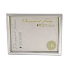 Plastic Document Frame, for 8 1/2 x 11, Easel Back, Metallic Silver UNV76853