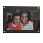 Acrylic Easel Back Magnetic Frame for 4 x 6 Insert, Black UNV76855