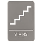 ADA Sign, 6 x 9, Stairs, Gray USS5401