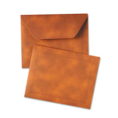 Designer Document Carrier, Expanding, Letter Size, 9 1/2 x 12, Brown QUA89201