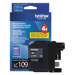 LC109BK, LC109BK, Super High-Yield Ink, 2400 Page-Yield, Black BRTLC109BK