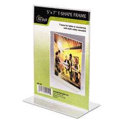 Clear Plastic Sign Holder, Stand-Up, 5 x 7 NUD38018Z