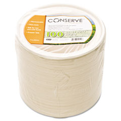 Conserve Sugar Cane Bowl, 12oz, White, 100/Pack BAU10222