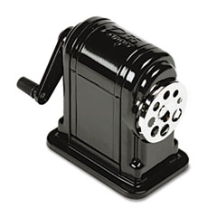 X-ACTO Counter-Mount/Wall-Mount Manual Pencil Sharpener, Black EPI1001