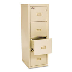 Turtle 4-Drawer File, 17-3/4w x 22-1/8d, UL Listed 350° for Fire, Parchment FIR4R1822CPA