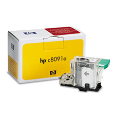 Standard Staples for HP Laserjet 9055/9065MFP, One Cartridge, 5,000 Staples/Pack HEWC8091A
