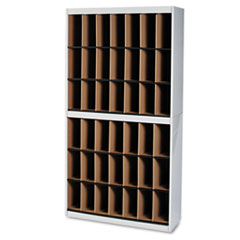 Kwik-File Vertipocket Vertical Sorter, 42 Pockets, 37¾w x 12¾d x 71h, Pebble Gry MLNSRF3871PG