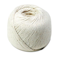 White Cotton 10-Ply (Medium) String in Ball, 475 Feet QUA46171