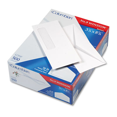 Poly-klear business window envelope, executive style construction, #9,  500/box, sold as 1 box, 500 each per box